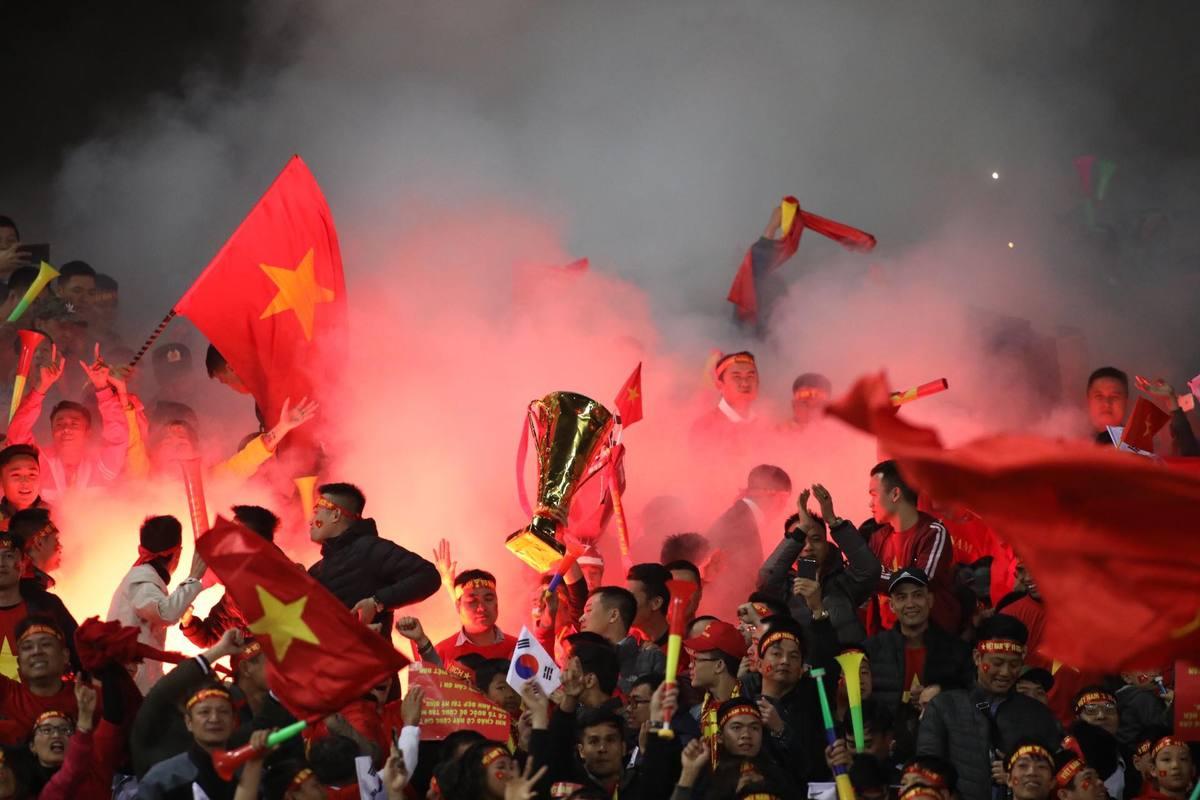 Hình ảnh ăn mừng chiến thắng của cầu thủ Việt Nam